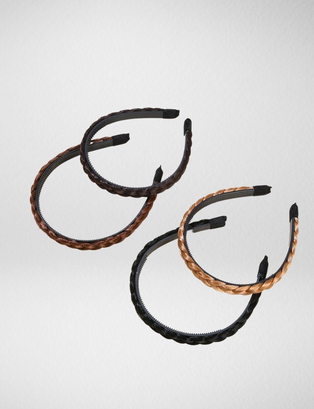 Braided hair hoops