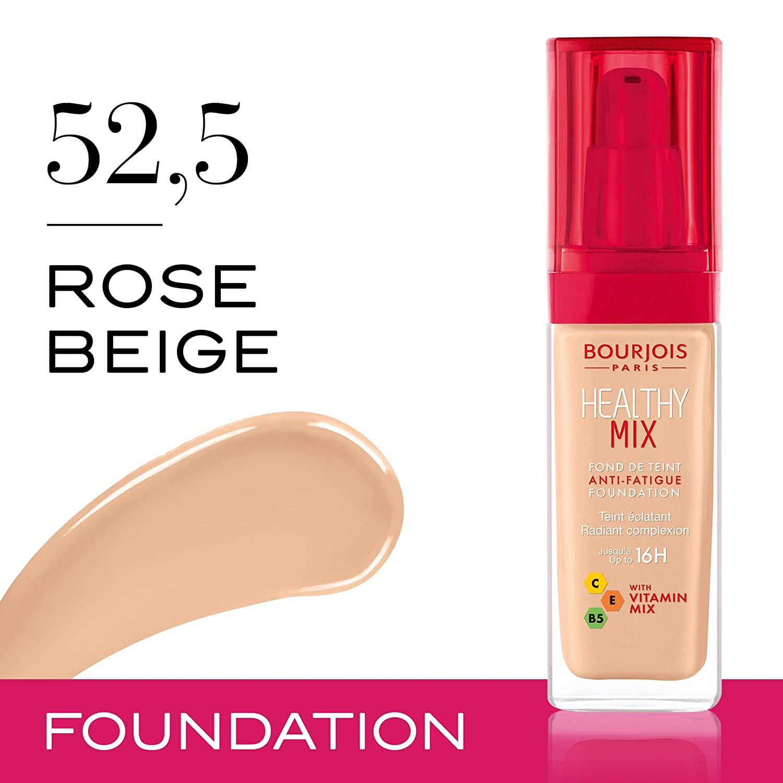 (Bourjois Healthy Mix Foundation - 52,5 Rose Beige 30ml (Various Shades
