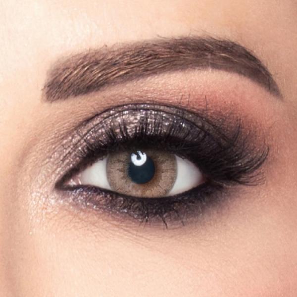 Amara Coloured Contact Lenses Brown Gold